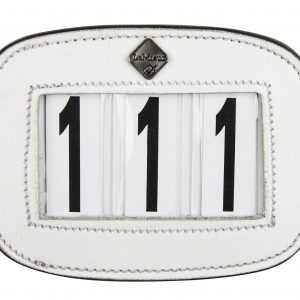LeMieux Saddle Pad Number Holder White