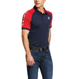 Ariat Mens Team 3.0 Short Sleeve Polo – Navy
