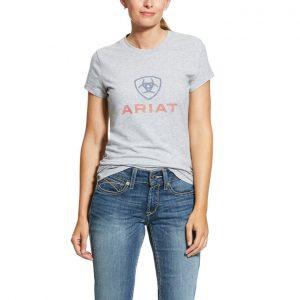 Ariat Ladies HD Logo Tee – Heather Grey