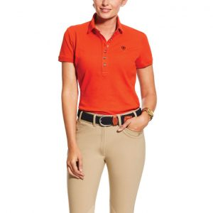 Ariat Ladies Prix Polo – Red Clay