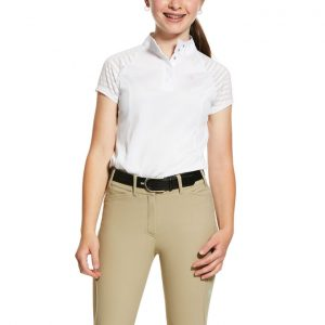 Childrens Ariat Aptos Vent Show Shirt – White