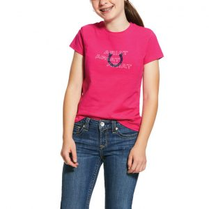 Ariat Kids Puff Print Logo Tee