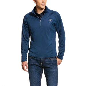 Ariat Mens Tolt 1/2 Zip Sweatshirt – Deep Petroleum