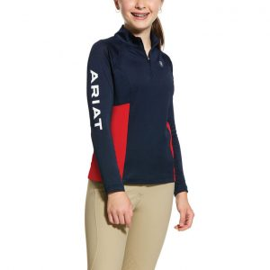 Ariat Kids Sunstopper Team 2.0 1/4 Zip Baselayer – Navy