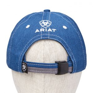 Ariat Adult Team II Cap – Heather Blue/White