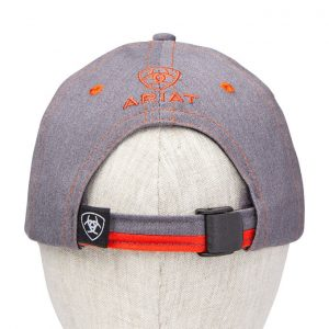 Ariat Adult Team II Cap – Heather Grey/Red Clay