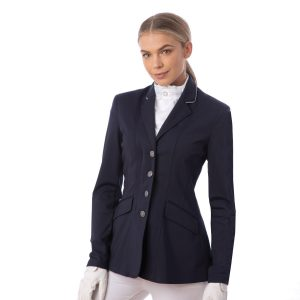 Ladies Equetech Jersey Deluxe Competition Jacket – Navy