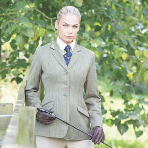 Ladies Equetech Foxbury Tweed Riding Jacket