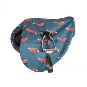 Shires Waterproof Ride On Saddle Cover – Fox Print