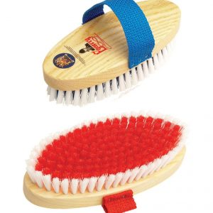 Equerry Wooden Body Brush Medium – Red