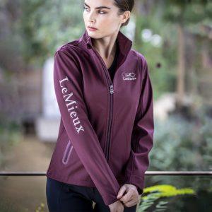 Team LeMieux Ladies Softshell Jacket – Burgundy