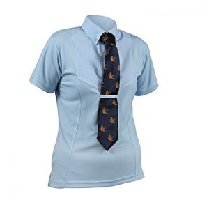 Childrens Shires Short Sleeve Tie Shirt – Blue