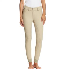 Ladies Ariat TRI Factor Grip Full Seat Breeches – Tan
