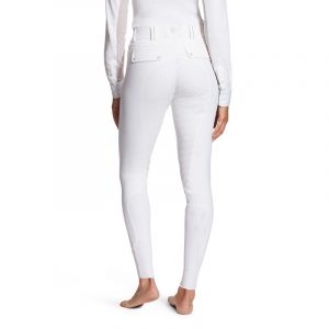 Ladies Ariat TRI Factor Grip Full Seat Breeches – White