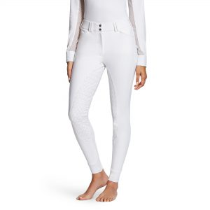 Ladies Ariat TRI Factor Grip Full Seat Breeches – White