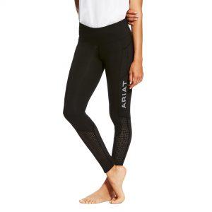 Ladies Ariat EOS Knee Patch Riding Tight – Black