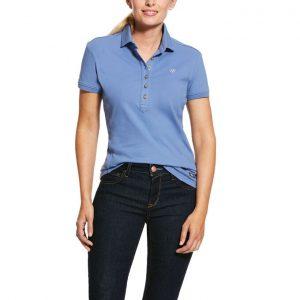 Ariat Ladies Prix Polo – Blue Heather