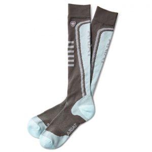 AriatTEK Slimline Performance Socks – Grey/Duck Egg