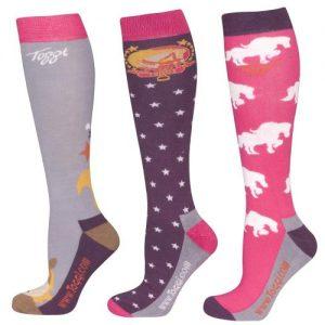 Toggi Lilith Ladies Three Pack Socks – Pebble