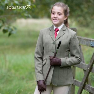 Equetech Childs Foxbury Tweed Riding Jacket – Olive