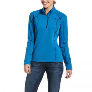 Ariat Ladies Conquest 2.0 1/2 Zip Sweatshirt – Blue Dawn