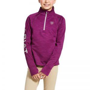 Ariat Kids Tek Team 1/2 Zip Sweatshirt – Imperial Violet