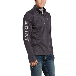 Ariat Mens Tek Team 1/2 Zip Sweatshirt – Heather