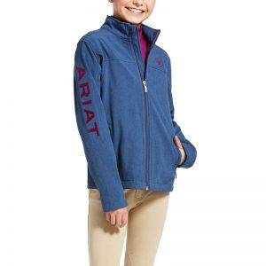 Ariat Kids New Team Softshell Jacket – Marine Blue
