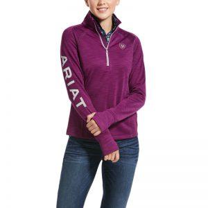Ariat Ladies Tek Team 1/2 Zip Sweatshirt – Imperial Violet