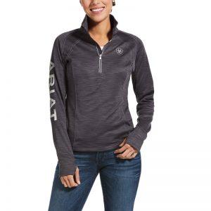 Ariat Ladies Tek Team 1/2 Zip Sweatshirt – Periscope Heather