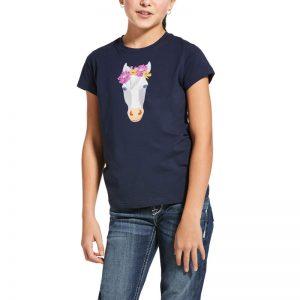 Ariat Kids Flower Crown T-Shirt – Navy