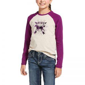 Ariat Kids Dash Logo T-Shirt – Oatmeal