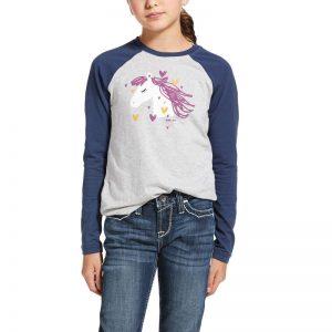 Ariat Kids My Love T-Shirt – Heather Grey