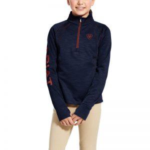 Ariat Kids Tek Team 1/2 Zip Sweatshirt – Navy/Heather