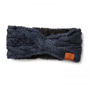 Ariat Ladies Cable Headband – Navy