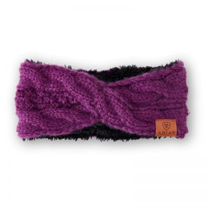 Ariat Ladies Cable Headband – Imperial Violet