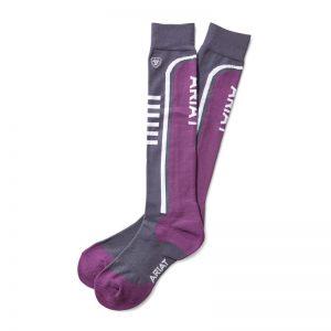 AriatTEK Slimline Performance Socks – Periscope/Imperial Violet