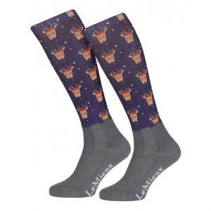 LeMieux Footsie Sock Reindeer Adult