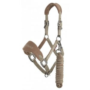 LeMieux Vogue Fleece Headcollar & Rope – Mink/Mocha