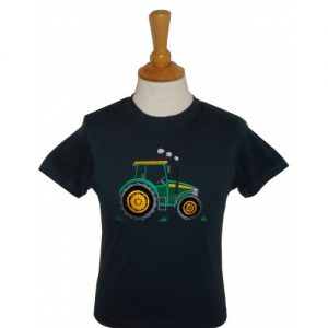 British Country Collection Big Green Tractor T-Shirt – Navy