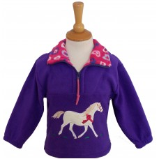British Country Collection Champion Pony Fleece Jacket – Purple