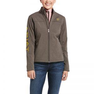 Ariat Ladies New Team Softshell Jacket – Banyan Bark Heather