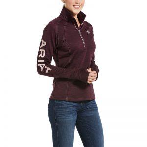 Ariat Ladies Tek Team 1/2 Zip Sweatshirt – Winetasting Heather