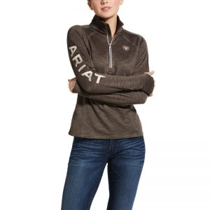 Ariat Ladies Tek Team 1/2 Zip Sweatshirt – Banyan Bark Heather