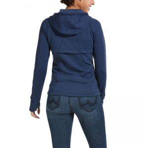 Ariat Ladies Attain Full Zip Hoodie – Marine Blue
