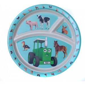 Tractor Ted Bamboo Divider Plate – Baby Animals