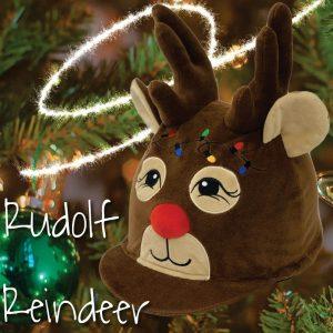 Equetech Rudolph Reindeer Hat Silk