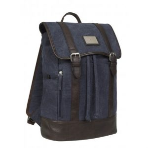 Luxury Canvas Rucksack – Navy