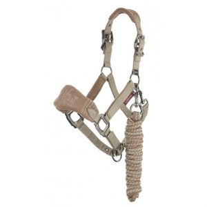 LeMieux Vogue Mini Fleece Headcollar & Leadrope – Mink