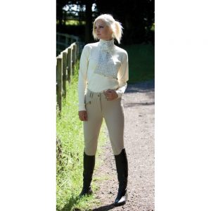Ladies Equetech Foxhunter Hybrid Breeches – Beige